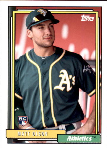 Photo of 2017 Topps Archives #242 Matt Olson -- Rookie Card of Oakland's rookie sensation