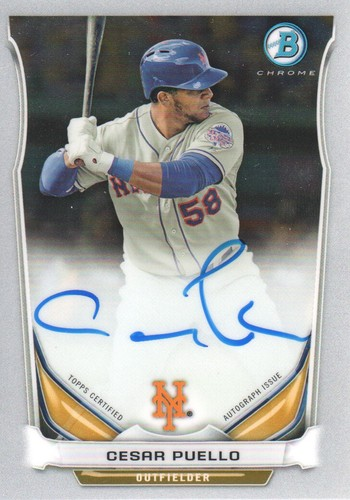 Photo of 2014 Bowman Chrome Prospect Autographs #BCAPCP Cesar Puello