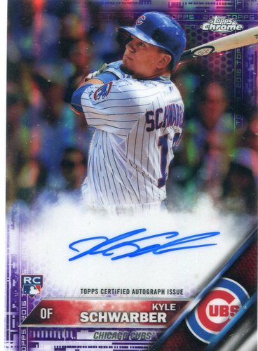 Photo of 2016 Topps Chrome Rookie Autographs Purple Refractors  Kyle Schwarber 171/250