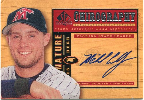 Photo of 2001 SP Top Prospects Chirography #MC Michael Cuddyer