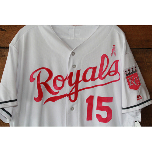 Photo of Whit Merrifield Game-Used Mother's Day Jersey: May 14, 2017 BAL at KC (Size 46)