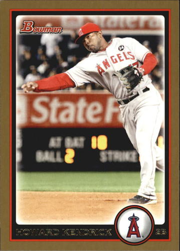 Photo of 2010 Bowman Gold #38 Howie Kendrick -- Nationals post-season