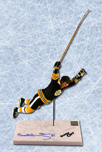 Bobby Orr Boston Bruins Autographed Cup Winning Goal McFarlane Figurine