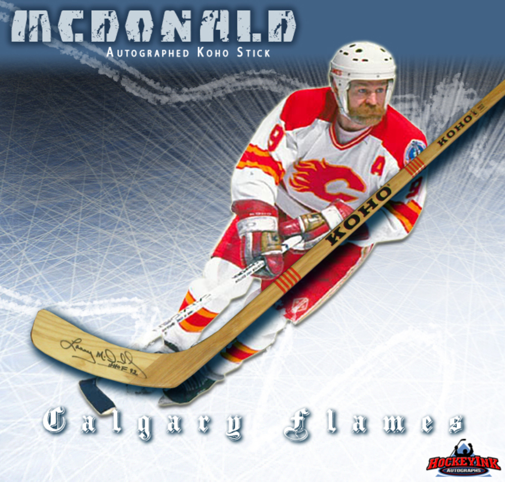 LANNY MCDONALD Signed Koho Stick - Calgary Flames
