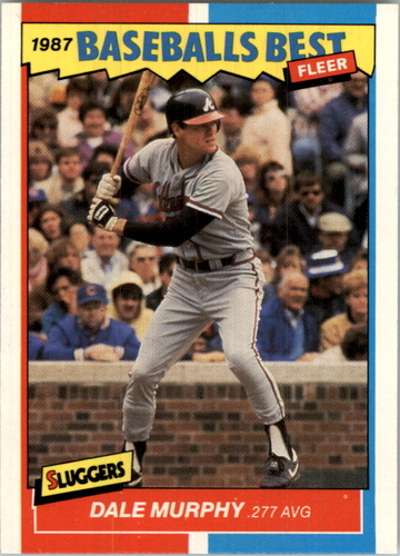 Photo of 1987 Fleer Sluggers/Pitchers #28 Dale Murphy