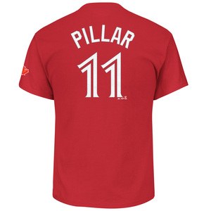 Toronto Blue Jays Kevin Pillar Player T-Shirt Red by Majestic