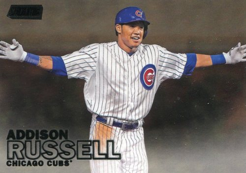 Photo of 2016 Stadium Club Black #9 Addison Russell