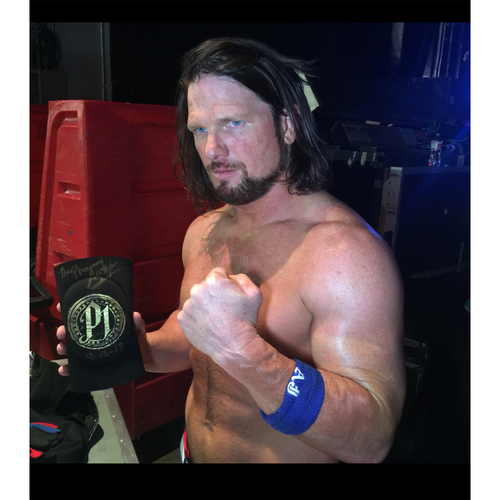 Photo of AJ Styles WORN & SIGNED Gold Elbow Pad (Connors Cure - 09/12/17)