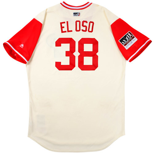 "Photo of Jorge ""El Oso"" Alfaro Philadelphia Phillies Game-Used Players Weekend Jersey"