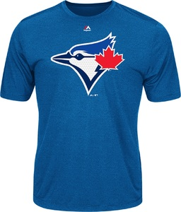 Toronto Blue Jays Logo Tech T-Shirt by Majestic