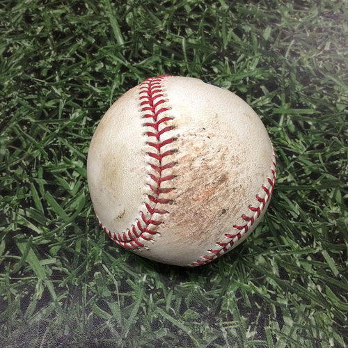 Photo of Game-Used Baseball 09/02/17 WSH@MIL - Max Scherzer to Eric Thames: Foul Ball