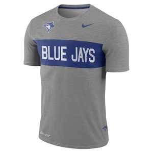 Toronto Blue Jays Dri-Fit Slub Stripe T-Shirt by Nike