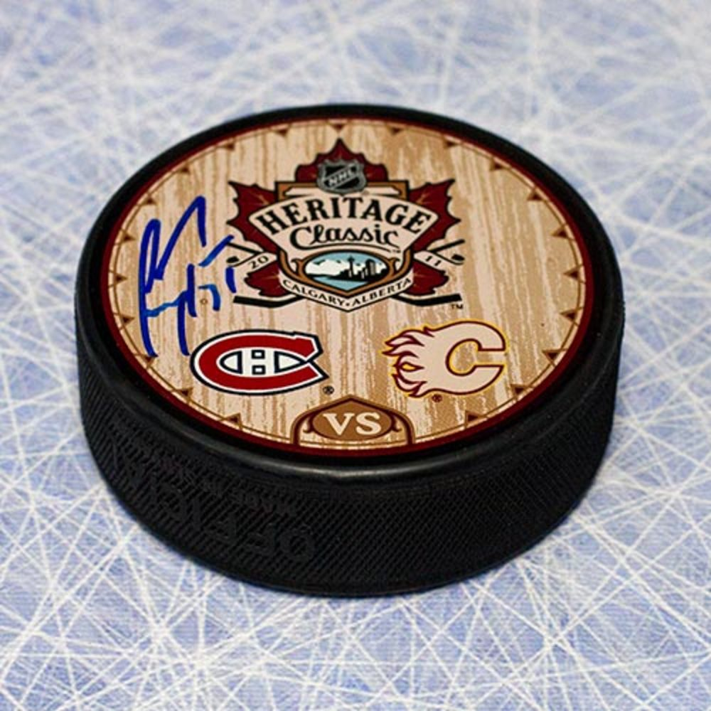 Carey Price Montreal Canadiens Autographed 2011 Heritage Classic Puck