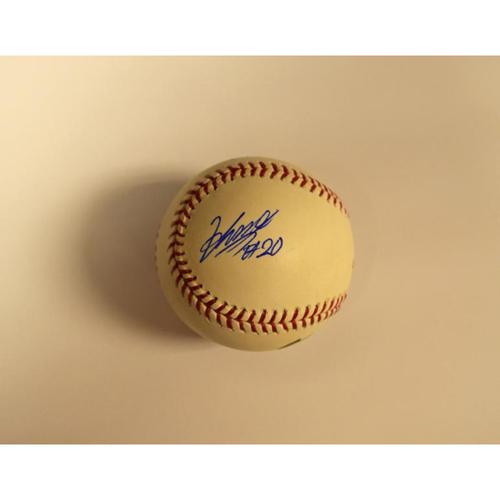 Photo of 2009 World Baseball Classic Baseball Autographed by Kosuke Fukudome, Hisashi Iwakuma, Munenori Kawasaki (Japan)