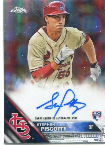 Photo of 2016 Topps Chrome Rookie Autographs Refractors Stephen Piscotty 169/499
