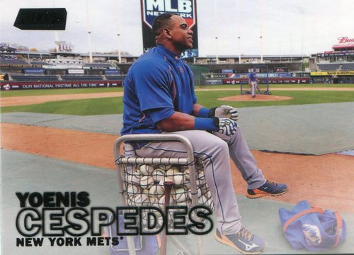 Photo of 2016 Stadium Club Black #154 Yoenis Cespedes