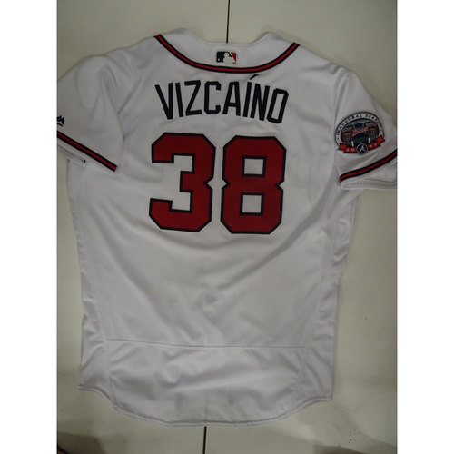 Photo of Arodys Vizcaino Game-Used Jersey Worn on Opening Day at SunTrust Park - April 14, 2017
