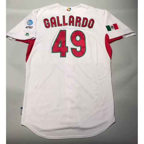 Photo of 2017 WBC: Mexico Game-Used Home Jersey, Yovani Gallardo #49