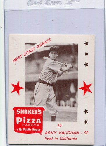 Photo of 1975 Shakey's Pizza #15 Arky Vaughan