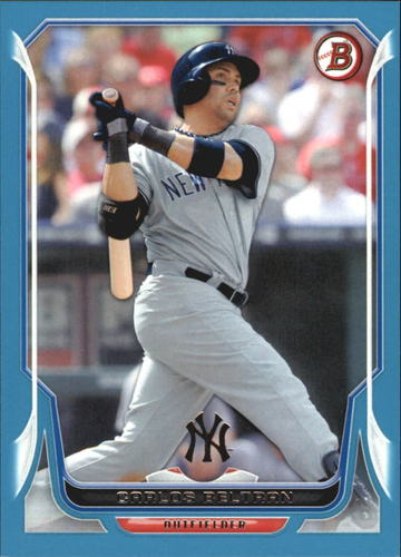 Photo of 2014 Bowman Blue #77 Carlos Beltran 3/500  -- Astros post-season