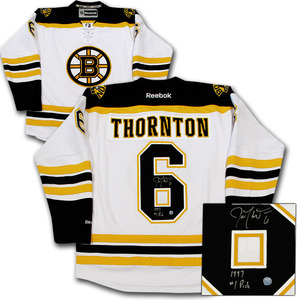 Joe Thornton Autographed Boston Bruins Jersey