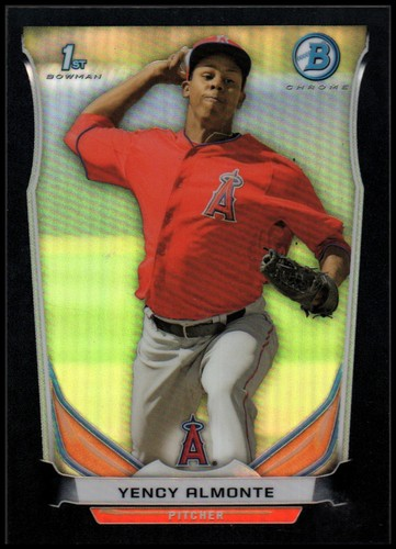 Photo of 2014 Bowman Chrome Prospects Black Refractors #BCP93 Yency Almonte