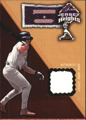Photo of 2002 Flair Jersey Heights #9 Jim Edmonds *