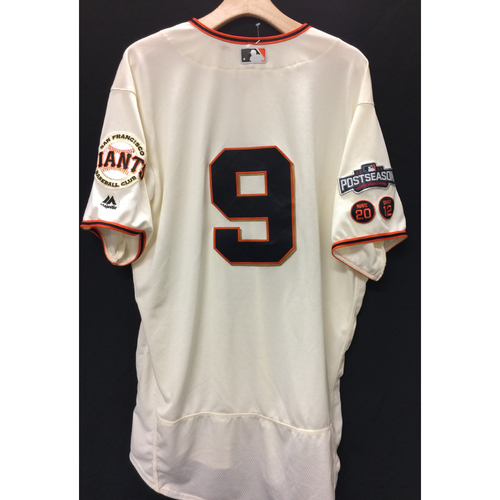 Photo of San Francisco Giants Brandon Belt 2016 Game-Used Postseason Home jersey (size 48, authenticated NLDS Game #3 and NLDS Game #4 vs Cubs)