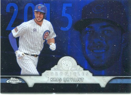 Photo of 2016 Topps Chrome ROY Chronicles  Kris Bryant Chicago Cubs