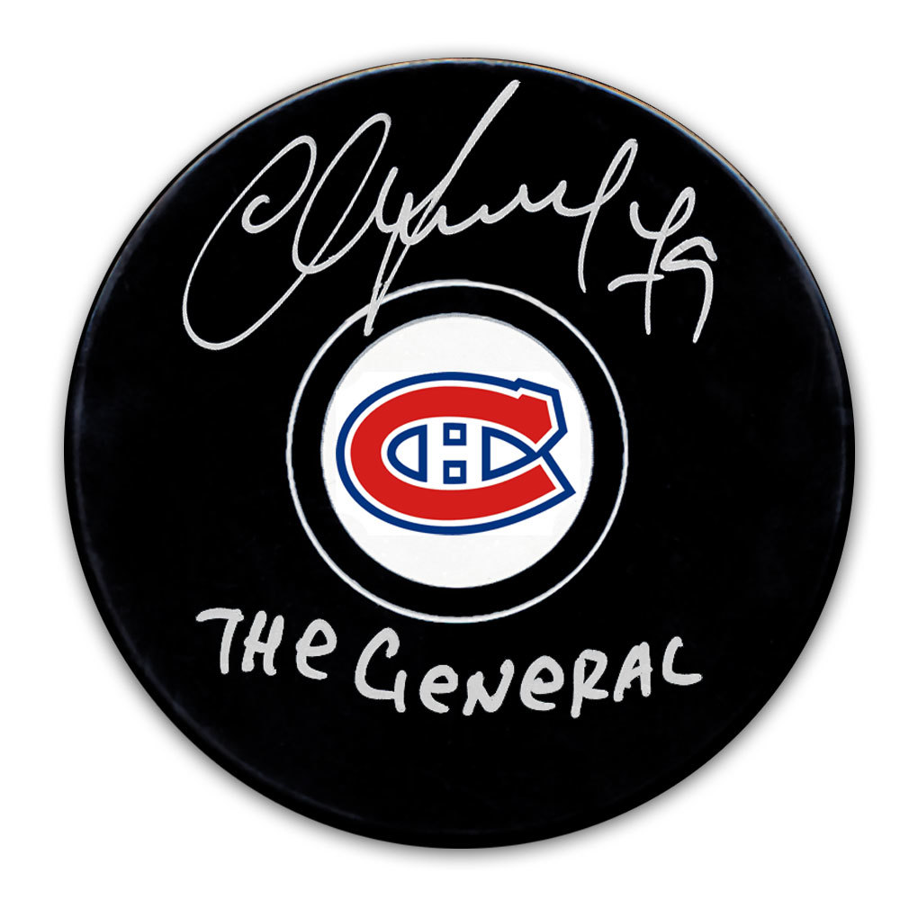 Andrei Markov Montreal Canadiens THE GENERAL Autographed Puck