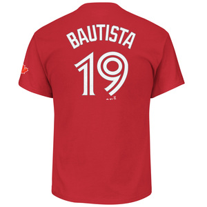 Toronto Blue Jays Jose Bautista Player T-Shirt Red by Majestic