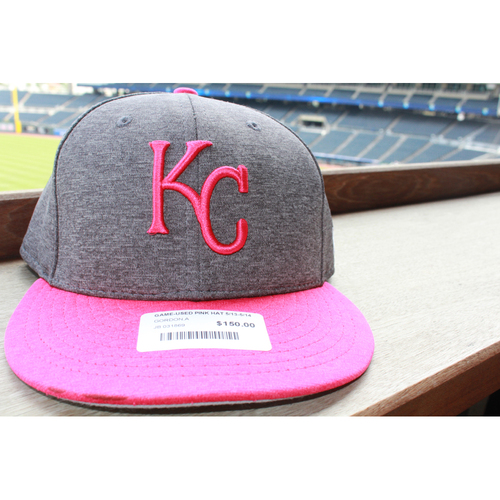 Photo of Alex Gordon Game-Used Mother's Day Cap: May 14, 2017 BAL at KC (Size 7 1/2 )