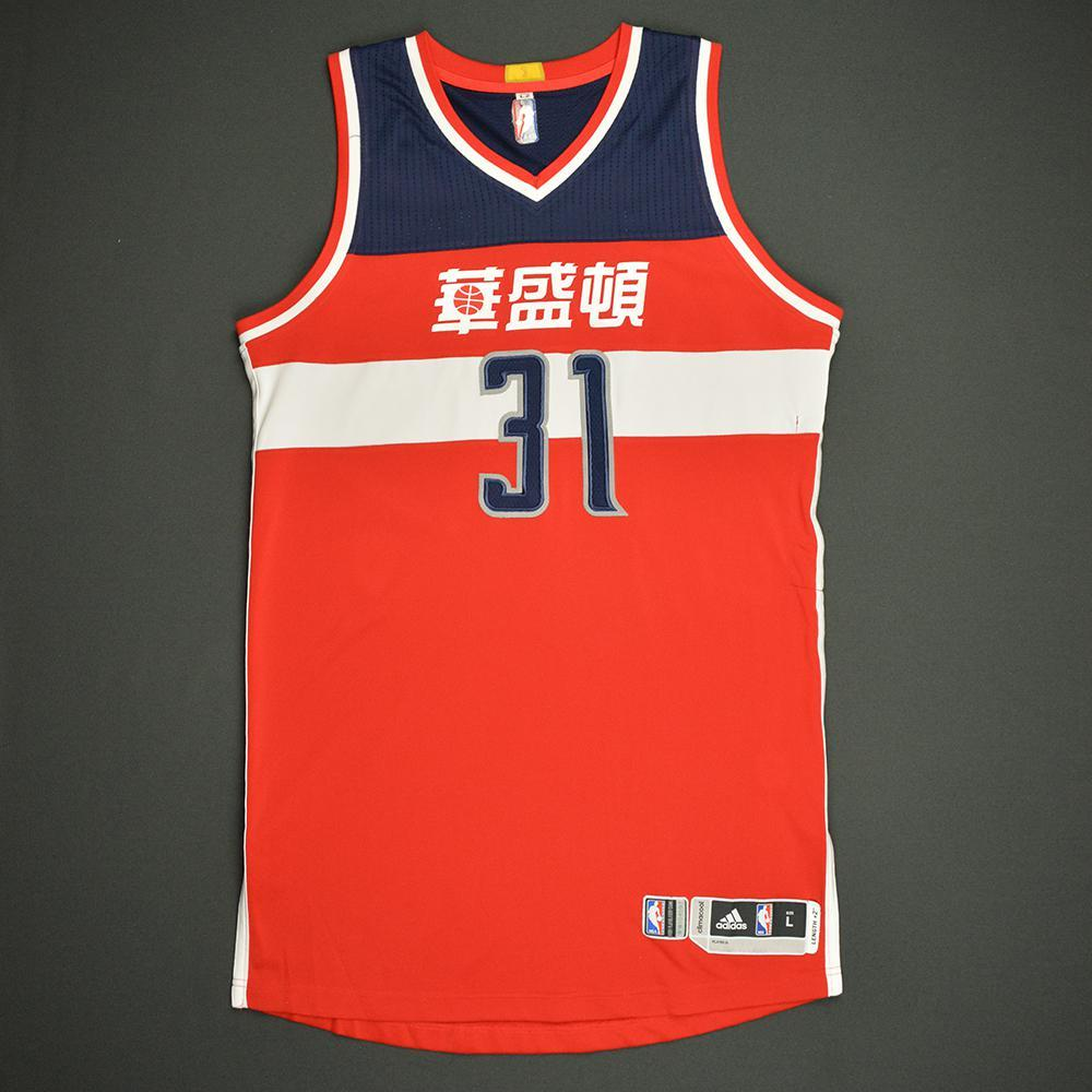 Tomas Satoransky - Washington Wizards - Game-Worn Red Chinese New Year Jersey - 2016-17 Season