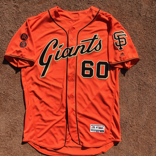 Photo of San Francisco Giants - Game-Used Jersey - 2016 Orange Friday Jersey