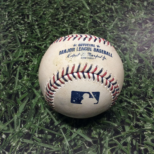 Photo of Game-Used Baseball 07/04/17 BAL@MIL - Ubaldo Jimenez to Travis Shaw: Single