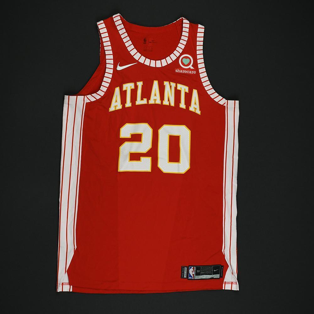 John Collins - Atlanta Hawks - Game-Worn Classic Edition 1970-72 Road Style Jersey - 2017-18 Season