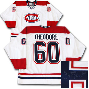 Jose Theodore Autographed Montreal Canadiens Jersey