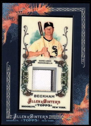 Photo of 2011 Topps Allen and Ginter Relics #GB Gordon Beckham