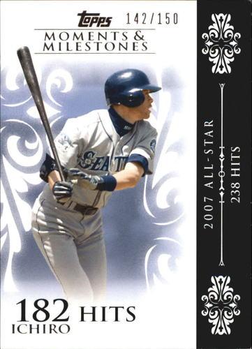 Photo of 2008 Topps Moments and Milestones #63-182 Ichiro Suzuki