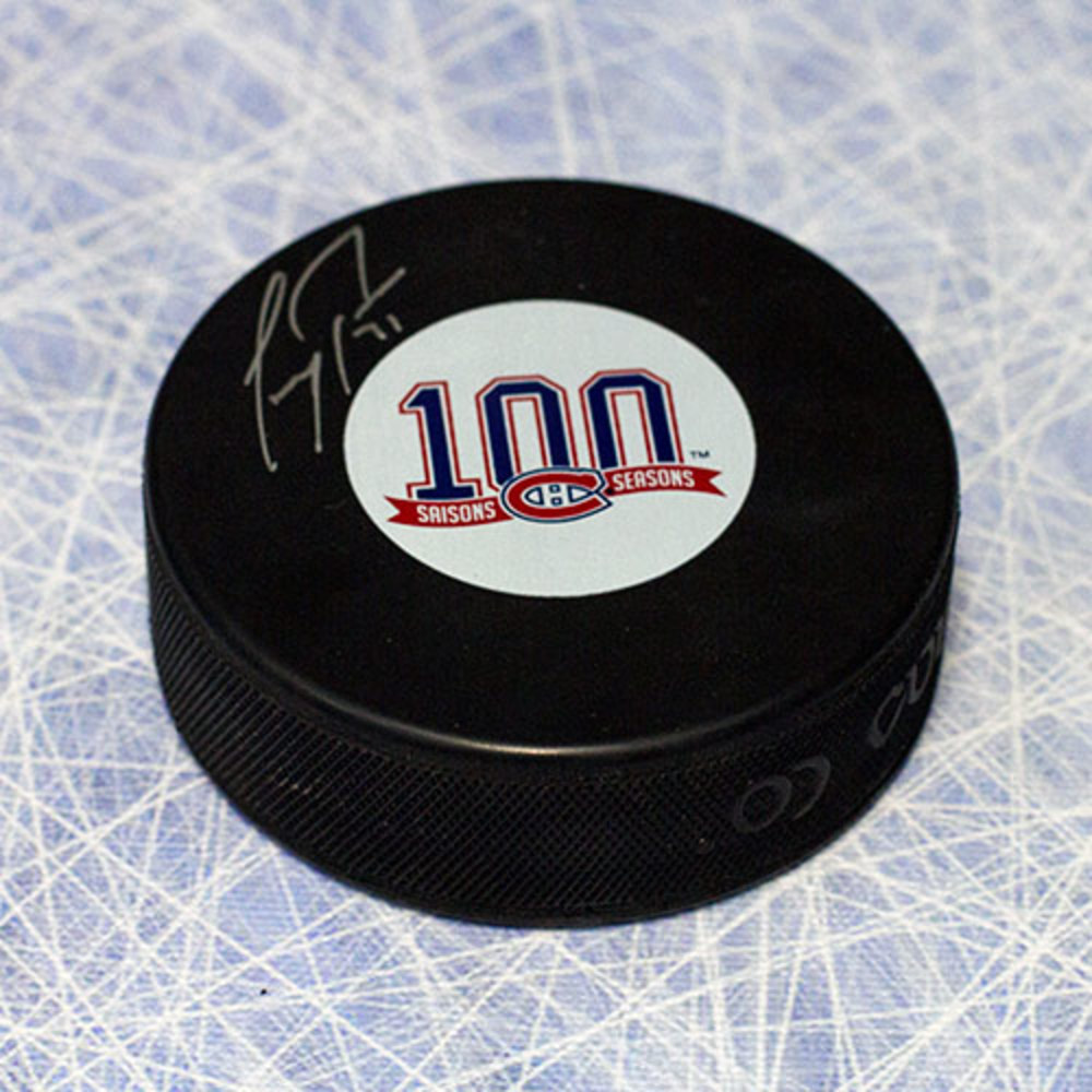 Carey Price Montreal Canadiens Autographed 100th Anniversary Hockey Puck