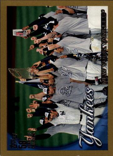 Photo of 2010 Topps Gold Border #470 New York Yankees