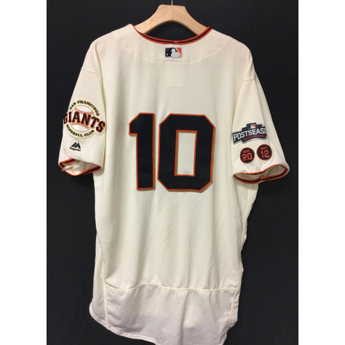 Photo of San Francisco Giants Eduardo Nunez 2016 Game-Used Postseason Home jersey (size 48, authenticated NLDS Game #3 and NLDS Game #4 vs Cubs)