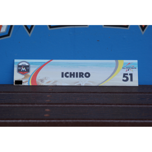 Photo of Ichiro Suzuki Spring Training Locker Tag