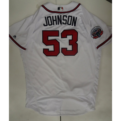 Photo of Jim Johnson Game-Used Jersey Worn on Opening Day at SunTrust Park - April 14, 2017