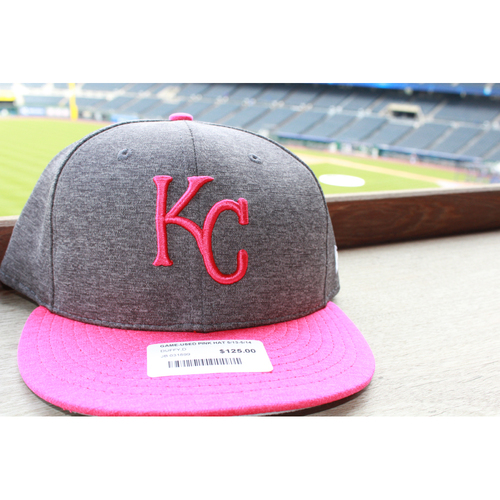 Photo of Danny Duffy Game-Used Mother's Day Cap: May 14, 2017 BAL at KC (Size 7 3/4)