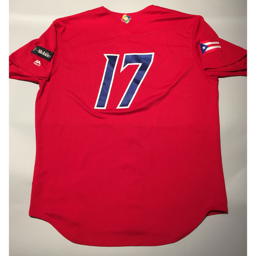 Photo of 2017 WBC: Puerto Rico Game-Used Batting Practice Jersey, #17