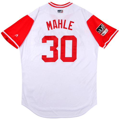 "Photo of Tyler ""Mahle"" Mahle Cincinnati Reds Game-Used Players Weekend Jersey"