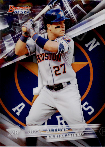 Photo of 2016 Bowman's Best #10 Jose Altuve  -- Astros post-season