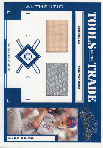 Photo of 2004 Absolute Memorabilia Tools of the Trade Material Combo #91 M.Prior A Bat-Jsy/250