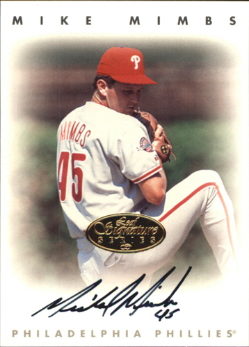 Photo of 1996 Leaf Signature Autographs Gold #157 Mike Mimbs
